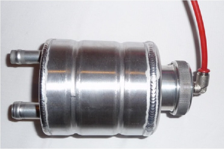 Alloy power steering tank, to replace the black plastic bottle, for Defender Td5 / Tdi / V8