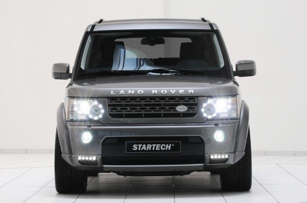 "Front skirt attachment element left and right, incl. LED daytime running lights ""Black Line"", Discovery 4"