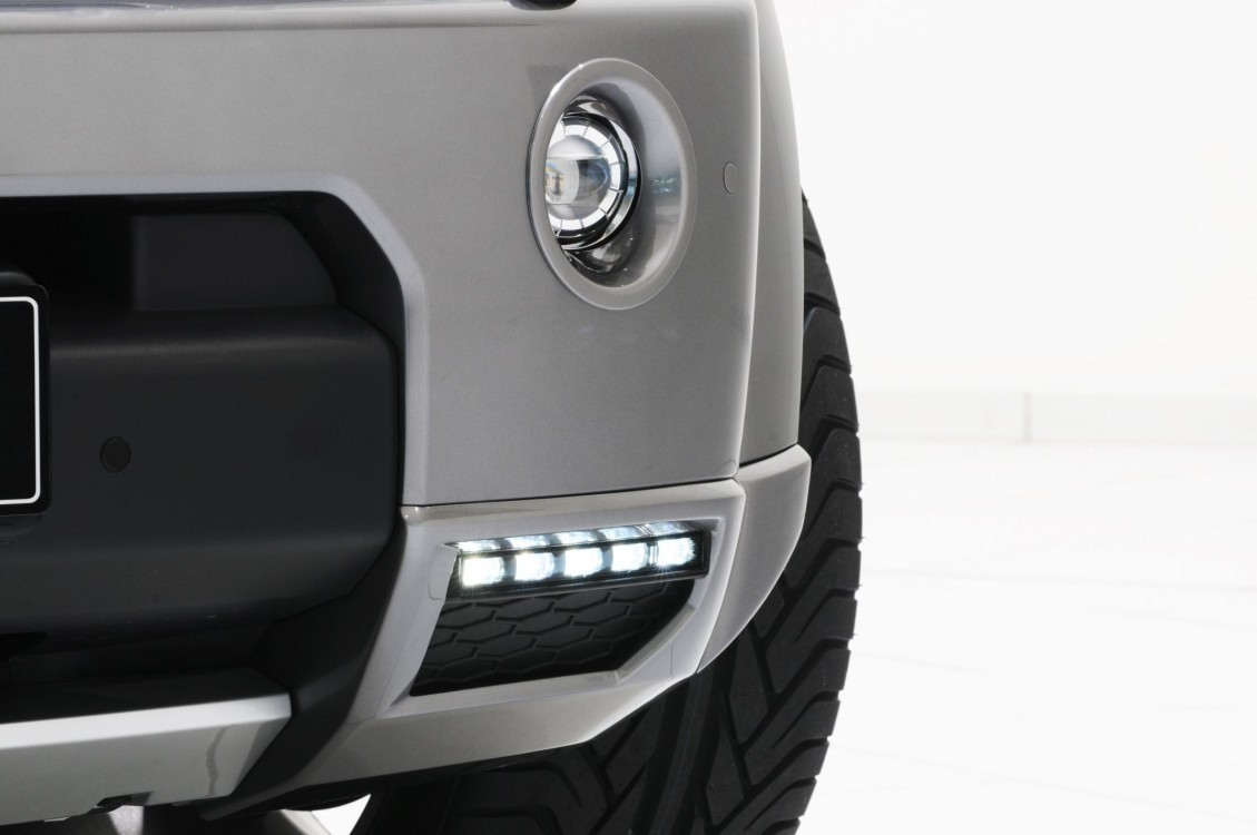 "LED fog light, 90 mm, ""Silver Line"" or ""Black Line"" Discovery 4"
