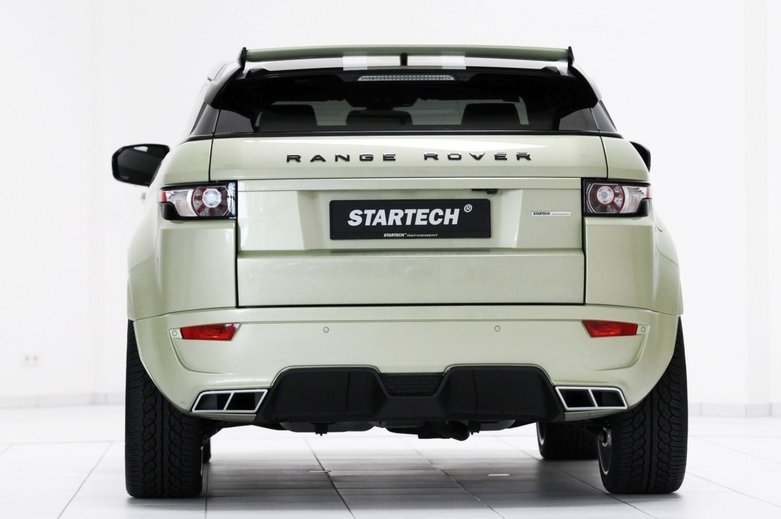 Starech Rear bumper, for TD4, PUR R-RIM, with integrated exhaust tips and diffusor, for all Evoque models, exhaust tips without function
