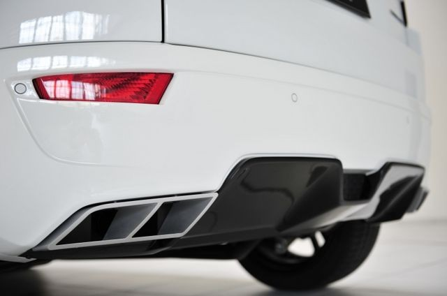 STARTECH Rear bumper, for SD4 and Si4, PUR R-RIM, with integrated exhaust tips and diffusor, for all Evoque models, exhaust tips with function