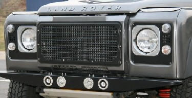 Radiator grille aluminium, Heritage Style, silver or black
