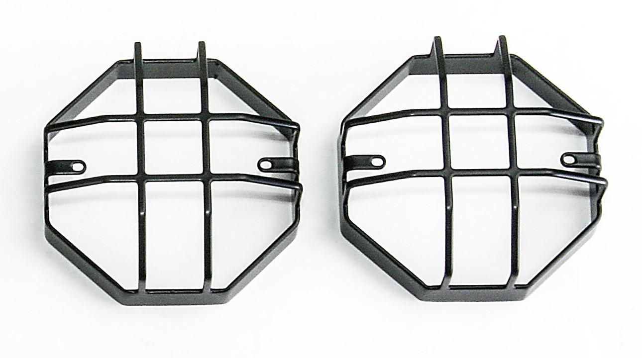 Rear light / rear fog light protection Type Q for Land Rover Defender, black powder coated.