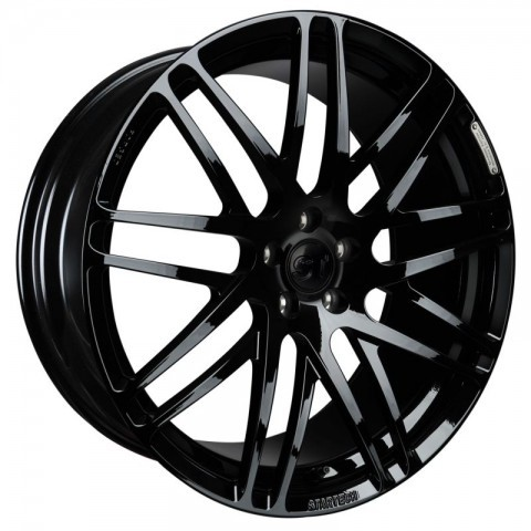 "STARTECH Monostar S, Cross-Spoke design, 11 x 23"", forged, ""glossy black"" colour, only in combination with widebody-kit, not for vehicles with 3rd seat bench for Range Rover- from 2013, Sport from 2014"