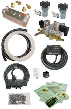 To 250 kw / 335 HP, Diesel to Vegetable Oil Conversion, SVO / WVO - kit,12v / 24v