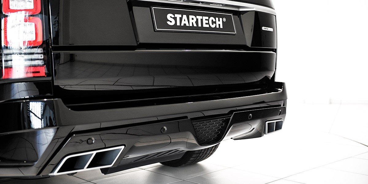 STARTECH Rear bumper, PUR R-RIM, with integrated exhaust tips for Range Rover from 2013