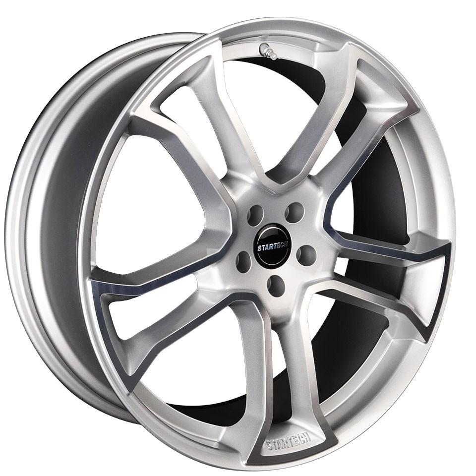 "STARTECH Monostar R, 9 x 22"", single piece, silver, full polished, for Range Rover - Evoque, Velar"