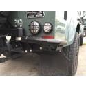 Rear Corner Protection, stainless steel black for Land Rover Defender 90/110