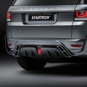 "STARTECH Rear bumper ""2"", PUR R-RIM, with integrated exhaust tips and central rear fog light in F1 design, not for SVR, Range Rover Sport from 2014, No tow bar"