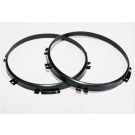 """Black stainless steel mounting rings for 7"""" main headlights Land Rover Defender"""