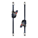 2 Lashing Straps with automatic rewind mechanism, 3m