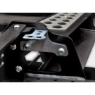 External bracket for additional light for modular bumper