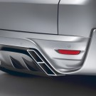 """STARTECH Rear bumper """"3"""", PUR R-RIM, with integrated exhaust tips and central rear fog light in F1 design, carbon diffusor in high-gloss, not for SVR, Range Rover Sport from 2014, without tow bar"""