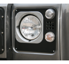 Headlight edging aluminium, Heritage Style, silver or black