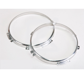 "Stainless steel mounting rings for 7"" main headlights Land Rover Defender"
