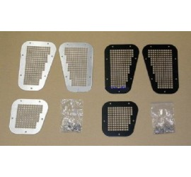 Air intake grille covers for Defender, black or silver