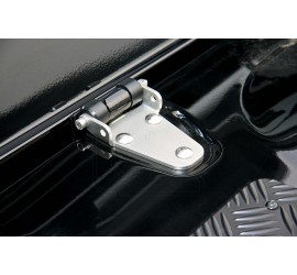 Bonnet hinges for Land Rover Defender Tdi, Td5, Td4, stainless steel