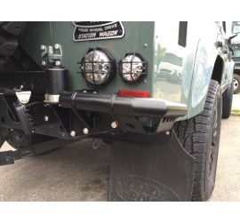 Rear Corner Protection, stainless steel black for Land Rover Defender 90/110