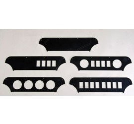 Dashboard front plate for Defender Td4 instruments and switch console