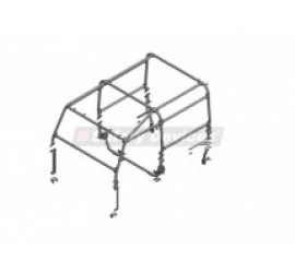Safety Devices 6 point external Roll Cage, L108, for Land Rover Defender 90 hard top/Station Wagon 3-door - with bulkhead