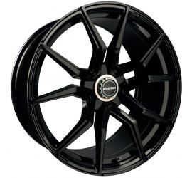 "STARTECH Monostar R, 9 x 22"", single piece, black, centre star silver, full polished, for Range Rover - Evoque, Velar"