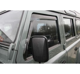 Wind deflectors front in smoke-grey, black or clear for Land Rover Defender