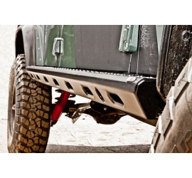 Rock Sliders Stainless Steel, black powder coated for Defender 90/110/130