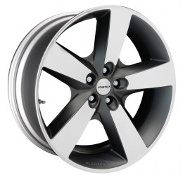 "Monostar IV, 5 spoke design, 10J x 22"", single piece, anthracite, high gloss polished, FA+RA: 295/35 R22"", Range Rover Sport 2014"