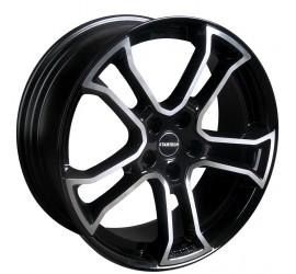 "Monostar R, 8.5J x 20"", single piece, black, centre star silver, full polished, Range Rover Evoque"