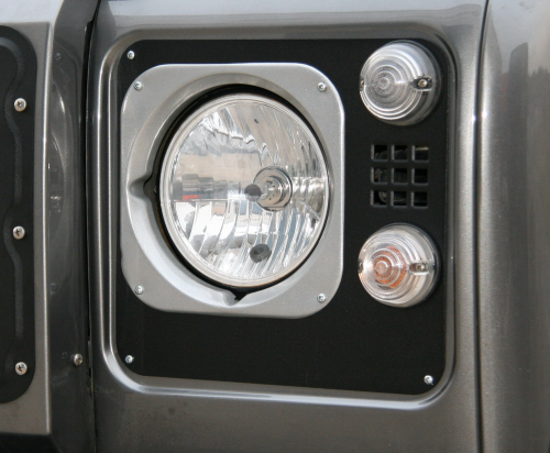 Headlight edging aluminium, Heritage Style, silver or black