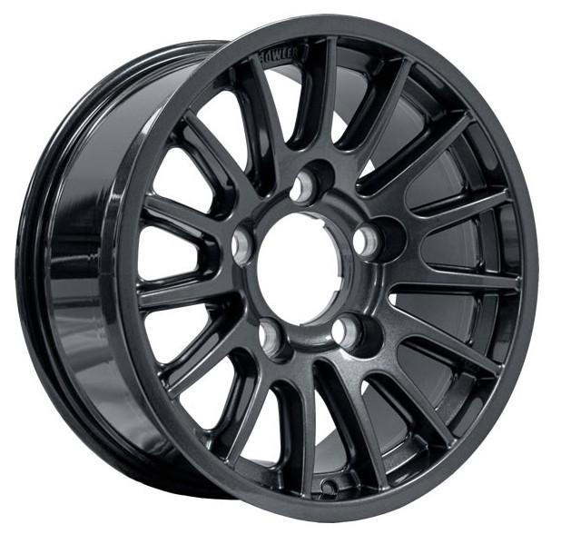 "Bowler alloy wheel  7.5"" x 16"" Black"