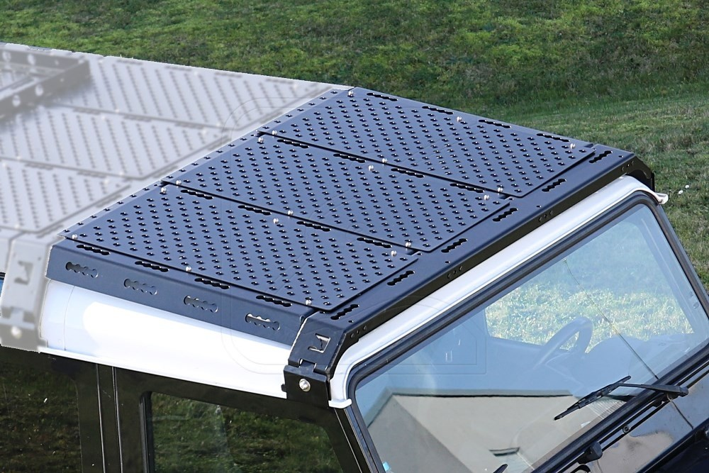 NEW CargoBear 2.0 roof rack tilted front extension 875mm, HiGrip plates, for Land Rover Defender