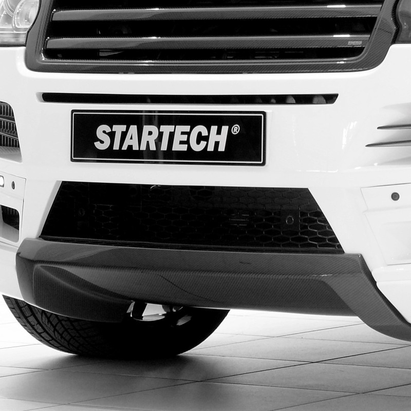 STARTECH Carbon diffusor in high gloss finish for front bumper for Range Rover from 2013