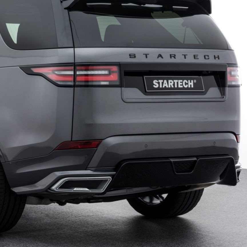 STARTECH Rear bumper with integrated exhaust tips in silver or black for Discovery 5