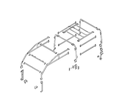 Safety Devices 6 point external Roll Cage, L242, for Land Rover Defender 110 Station Wagon 5-door