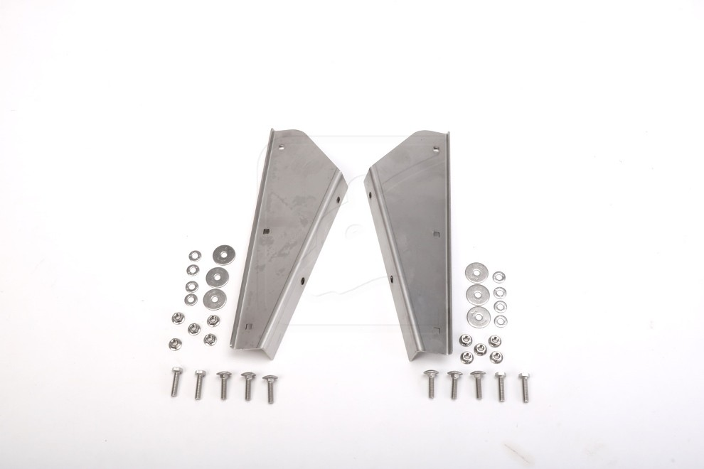 Stainless steel mud flap brackets front for Land Rover Defender 90/110/130