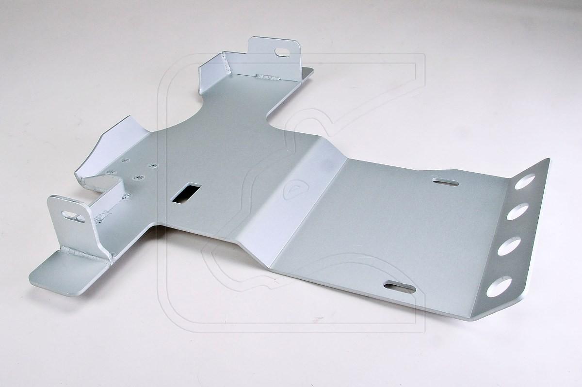 Transmission guard 6 mm aluminium for Land Rover Defender 90/110/130