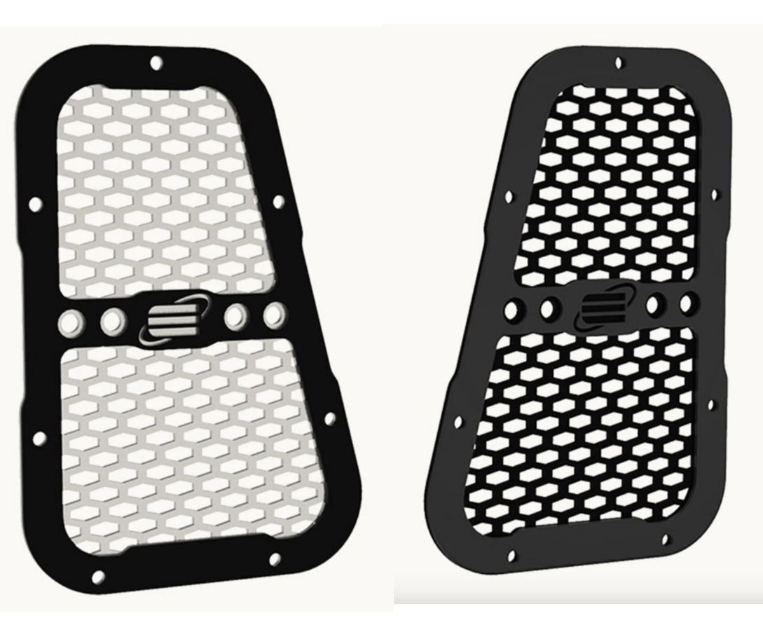 Equipe 4x4 air intake grille left and right for Land Rover Defender, black or silver