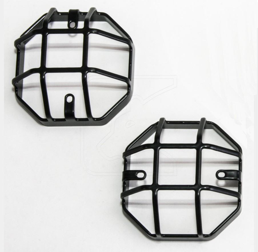 Stop- indicator- position light protection Type Q for Land Rover Defender, black powder coated.