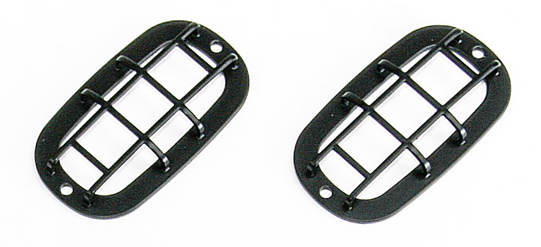 Side indicator protection Type Q for Land Rover Defender, black powder coated.