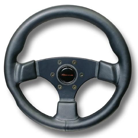 Sport steering wheel 360mm genuine leather black