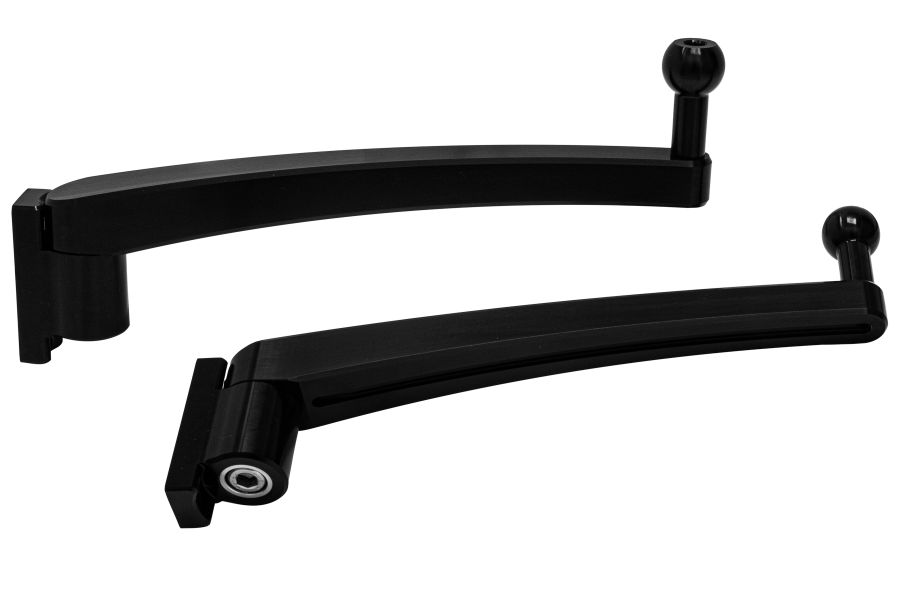 Long adjustable aluminium mirror arms by Offroad Monkeys for Land Rover Defender