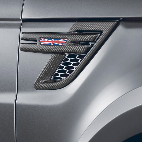 STARTECH Carbon side air intake covers in high-gloss finish, set Not for SVR, Range Rover Sport from 2014