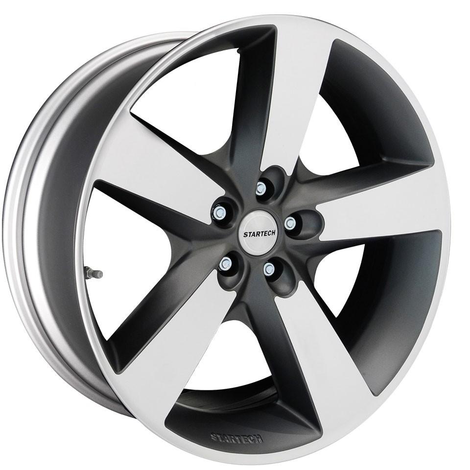 "STARTECH Monostar IV, 9 x 20"", 5 spoke design, single piece, anthracite, high gloss polished for Range Rover Evoque"