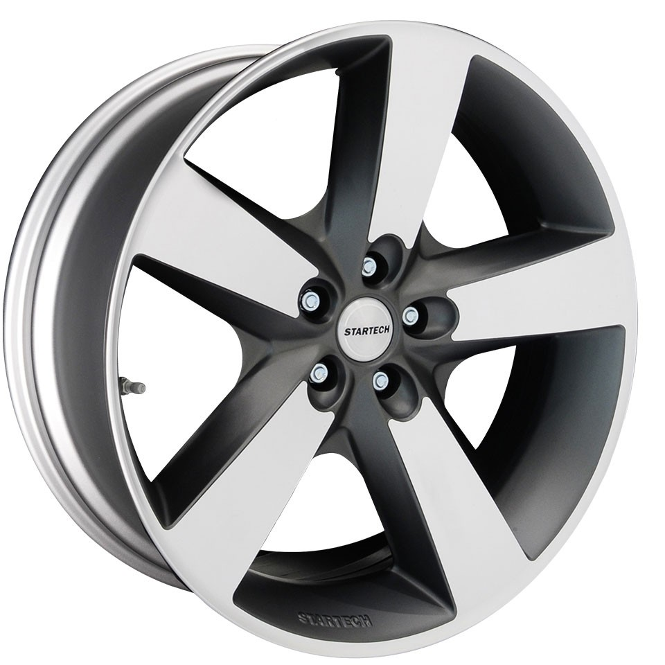 """STARTECH Monostar IV, 5 spoke design, 10 x 22"""", single piece, anthracite, high gloss polished, for  Range Rover- from  2013, Sport from 2014"""