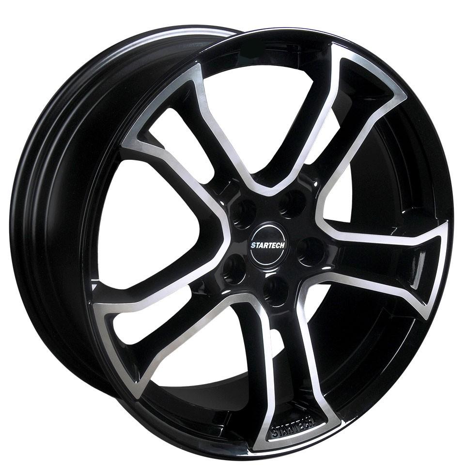 "STARTECH Monostar R, 8.5 x 20"", single piece, black, centre star silver, full polished, for Range Rover Evoque"