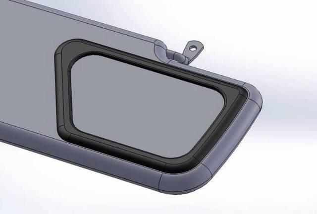 Mirror for sun visor for Land Rover Defender