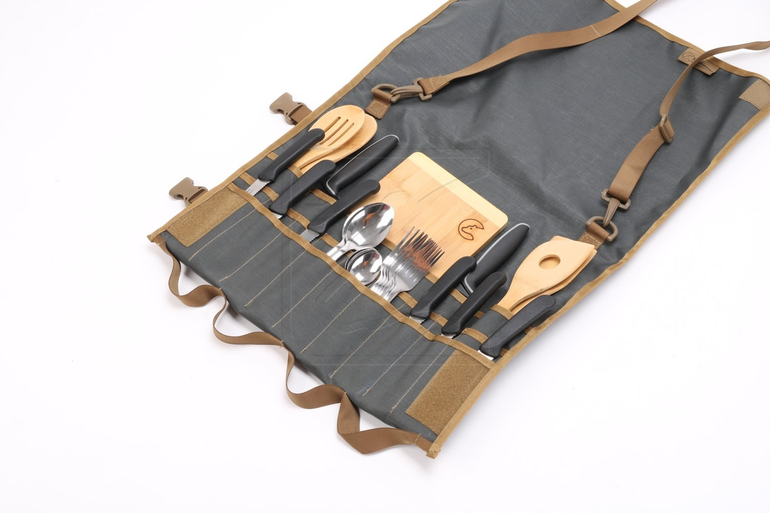 Tool Roll MAXI - Hungry Edition - incl stainless steel cutlery, Nakatanenga