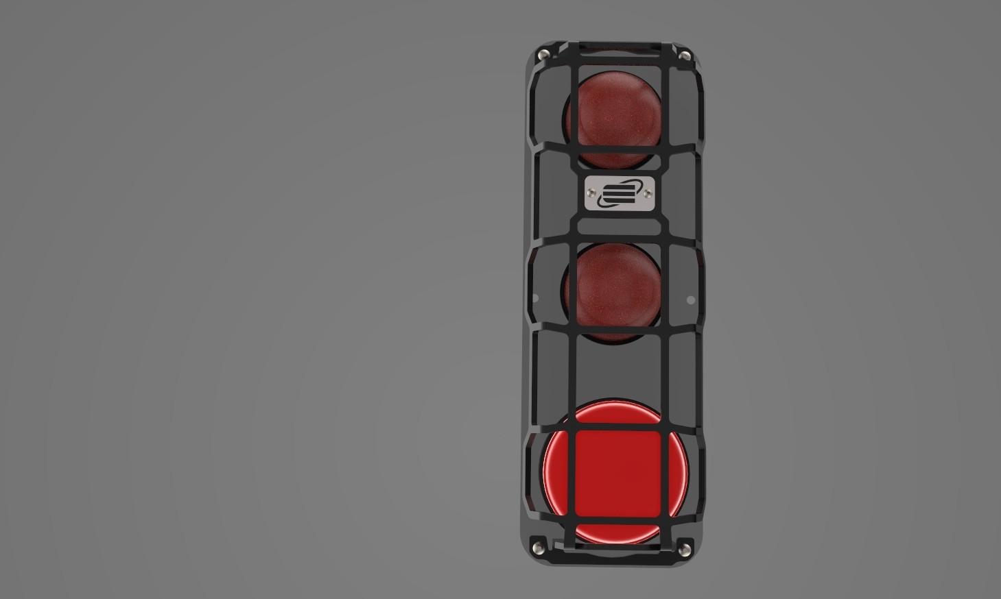 Rear indicator, rear light / rear fog light protection for Defender HCPU 110/130, black powder coated.