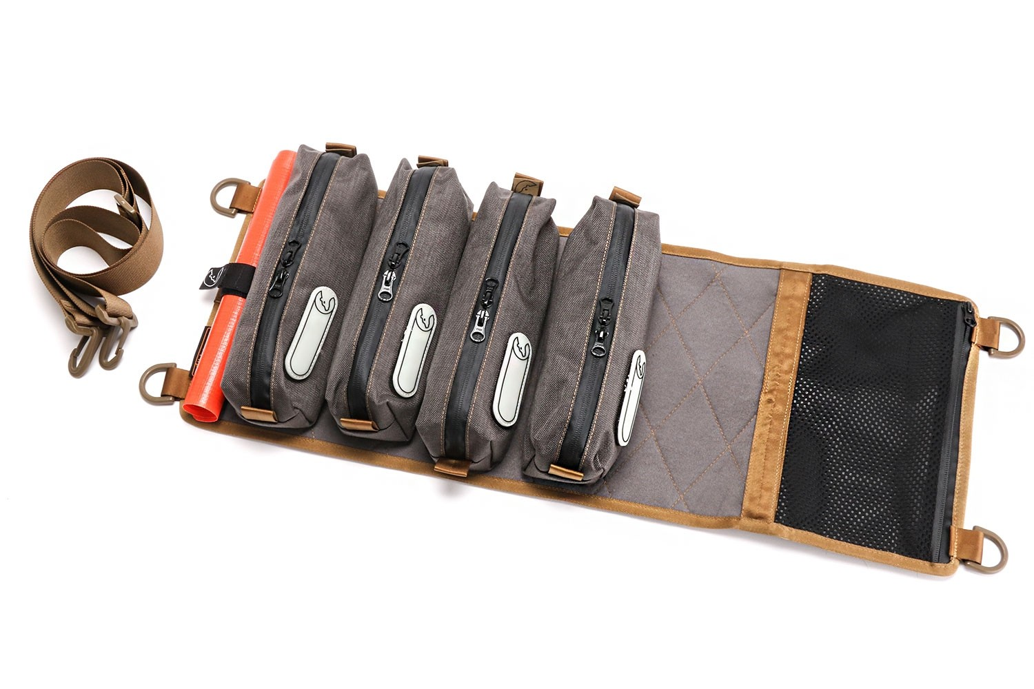 Tool Roll small, modular with pockets and Velcro base, S1 or S2 Nakatanenga